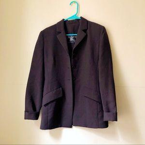 Brown oversized Burberry blazer
